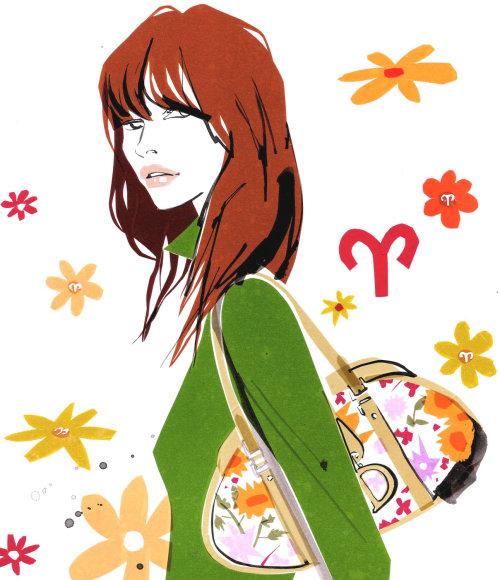 illustration de mode de Marie Claire Aries