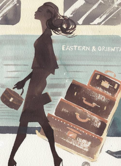 Illustration pour le magazine Orient Express