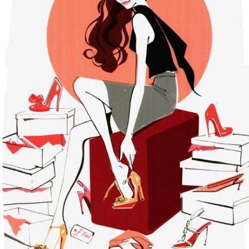fashion girl illustration for Wedding Magazine 2009