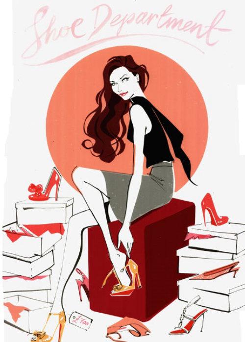 illustration de mode fille pour Wedding Magazine 2009