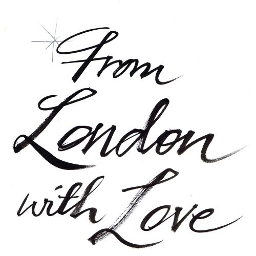 From London with love lettering