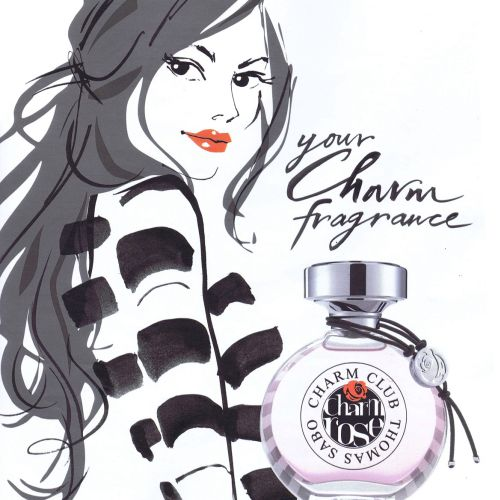 An illustration for Thomas Sabo perfume by Jacqueline Bissett