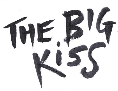 Illustration de lettrage du grand baiser