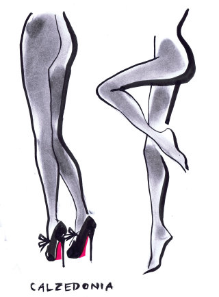 Italian Tights Sketch by Jacqueline Bissett