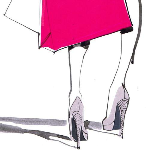 Illustration for shopping center poster US