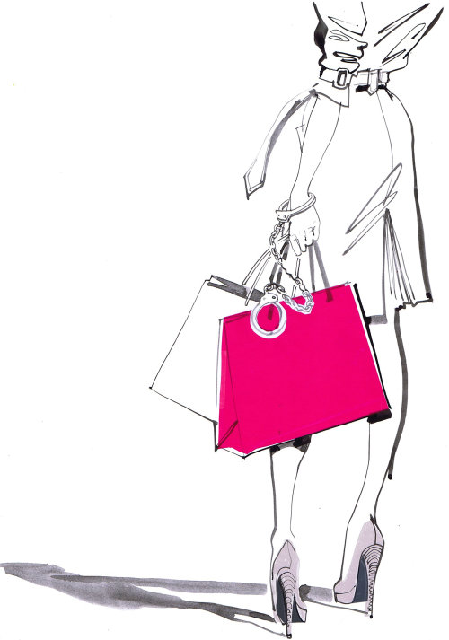 Illustration for shopping center poster US