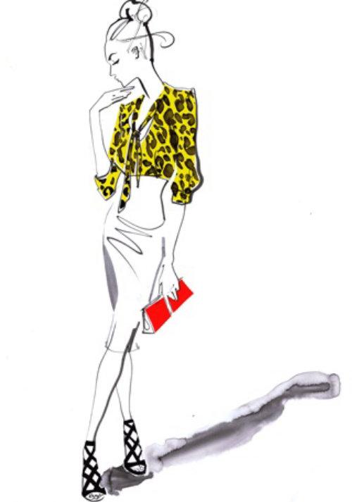 Mode peinture colorée de femme