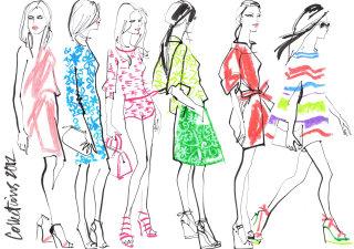 Fashion illustration by Jacqueline Bissett