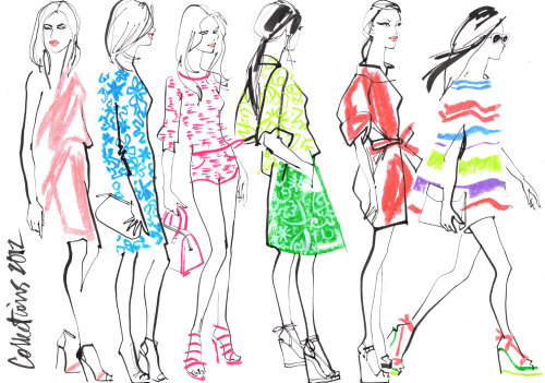 Fashion illustration by Jacqueline Bissett