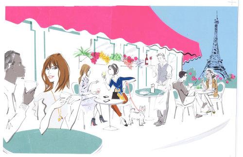 Fête dans une ville - Illustrtation de Jacqueline Bissett