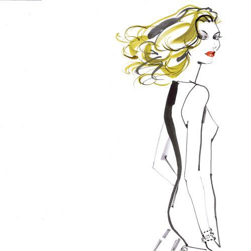 fashion woman illustration for voyeur magazine Virgin airlines