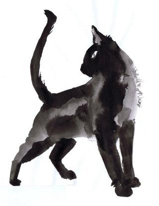 Illustration of black cat
