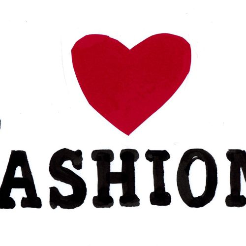 I Love Fashion - Lettering Design