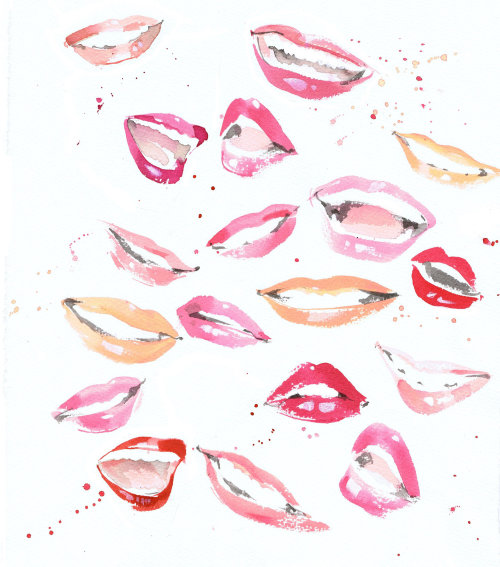 Illustration of lips