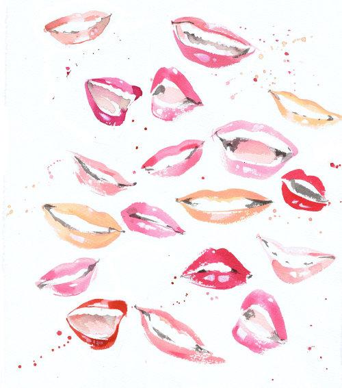 Illustration des lèvres