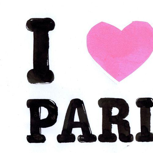 I love Paris lettering