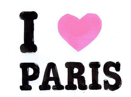 J'adore le lettrage de Paris
