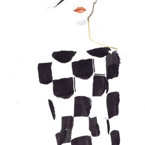 Black and White fashion illustration