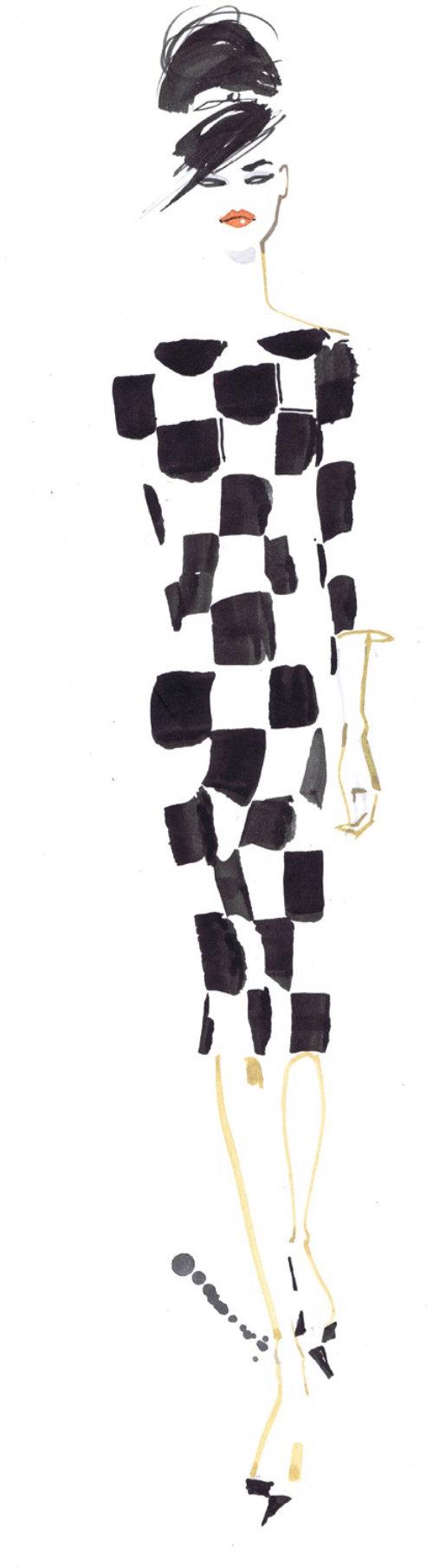 Illustration de mode noir et blanc