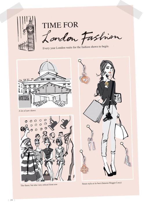 Défilé de mode de Londres Catalogue Thomas Sabo 2013
