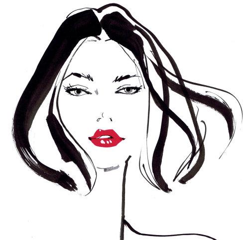 Une illustration pour les vitrines Tie Rack par Jacqueline Bissett