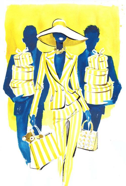 Une illustration pour Giorgio Beverly Hills publicité par Jacqueline Bissett