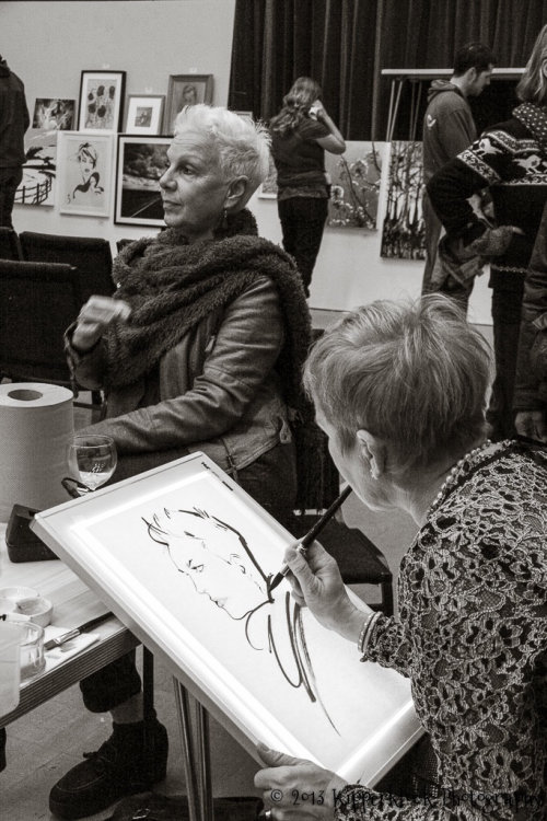 Live even drawing by jacqueline bissett
