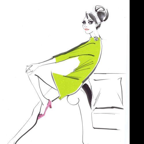Jacqueline Bissett International fashion illustrator. UK