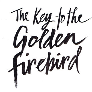 An illustration for Key to the Golden Firebird,  book cover illustration by Jacqueline Bissett