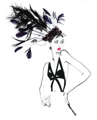 Illustration for fashion show- David Simon contemporary