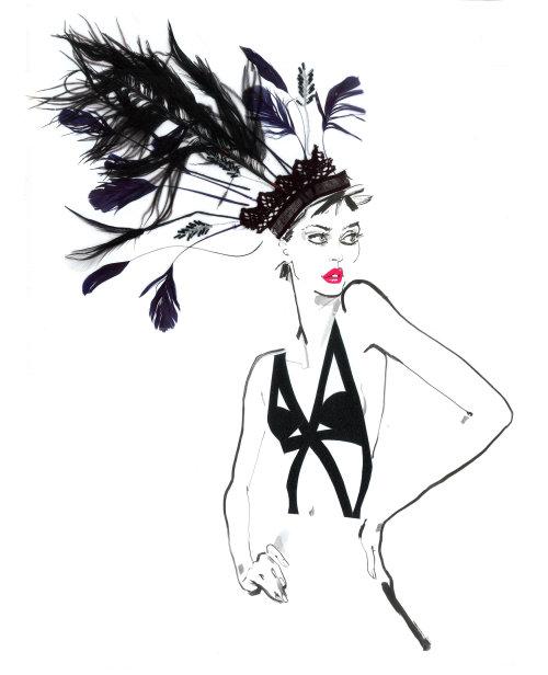 Illustration pour un défilé de mode - David Simon contemporain