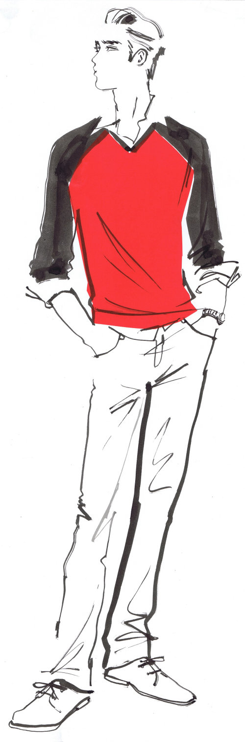 Men fashion illustration