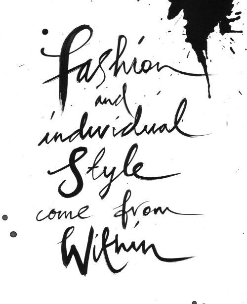 Illustration de lettrage sur la mode