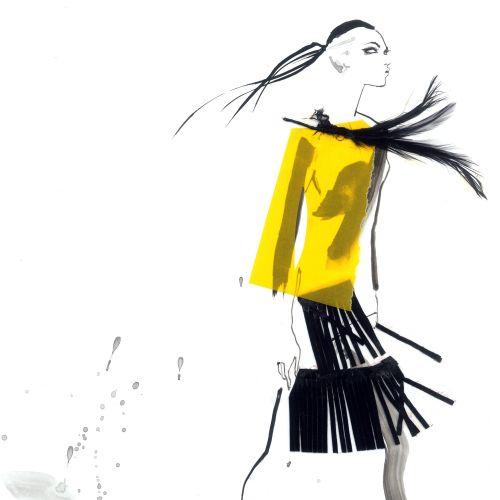 Illustration for David Simon contemporary fashion show