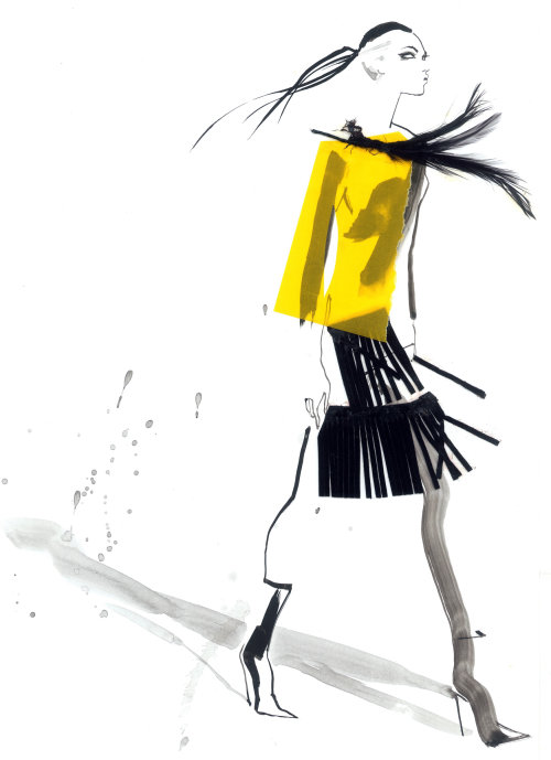 Illustration for David Simon contemporary fashion show