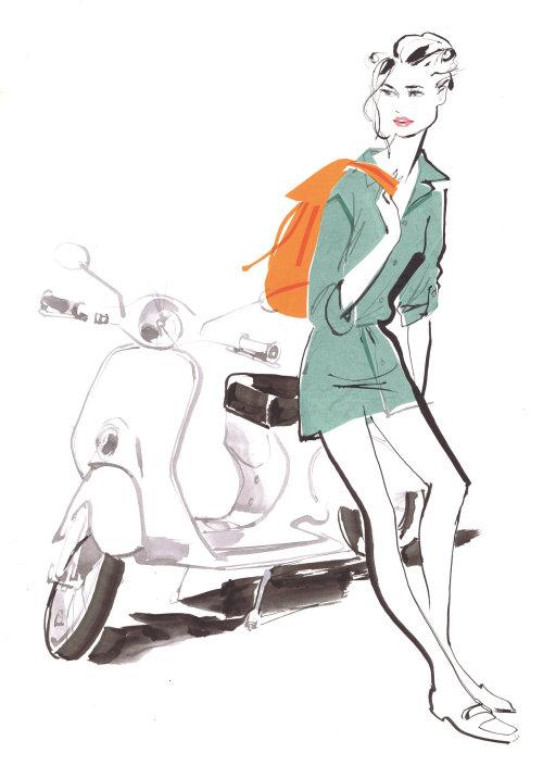 Illustration de mode pour publication italienne