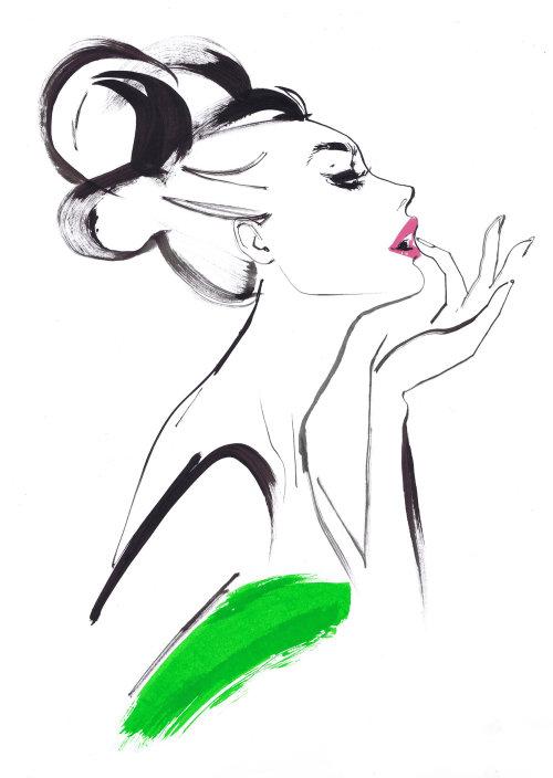 Illustration pour Vogue Japan