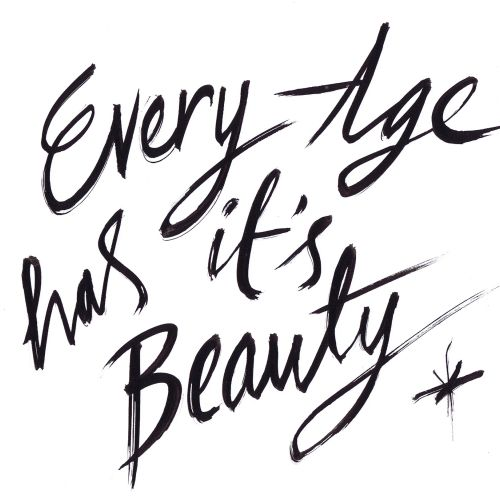 Quotes  about beauty - Line art