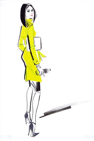 Illustration for Zico USA Jessica Alba