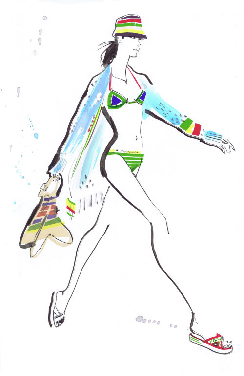 Illustration pour les collections femme Tommy Hilfiger