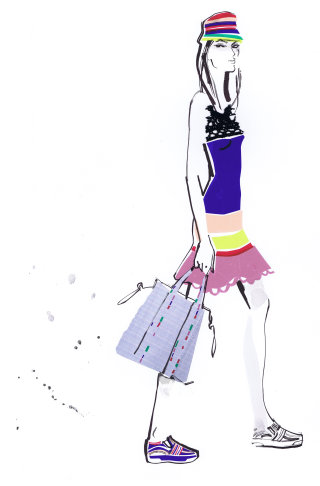 Illustration for Tommy Hilfiger lady collections