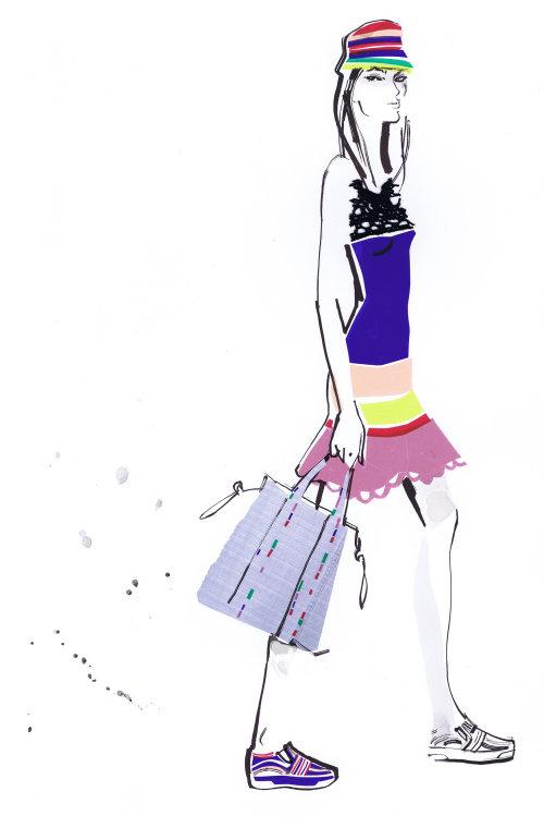 Illustration pour les collections Tommy Hilfiger lady