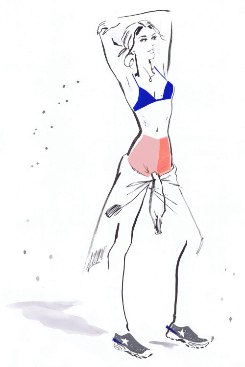 Illustration for Tommy women wear 2016