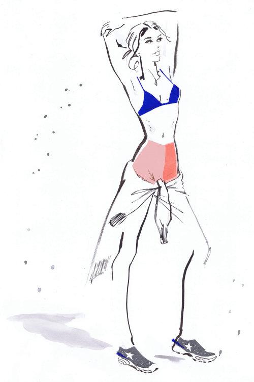 Illustration pour les femmes Tommy portent 2016