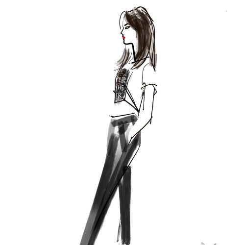 Jacqueline Bissett Live Event Drawing Fashion