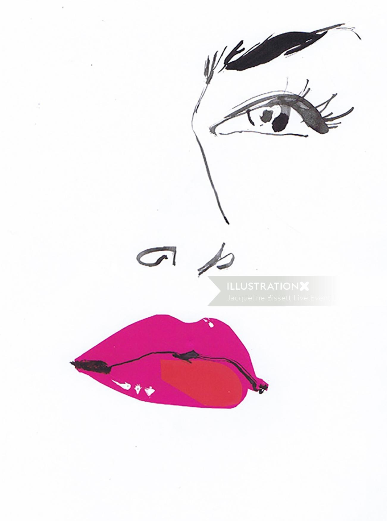 Beauty Lips drawing