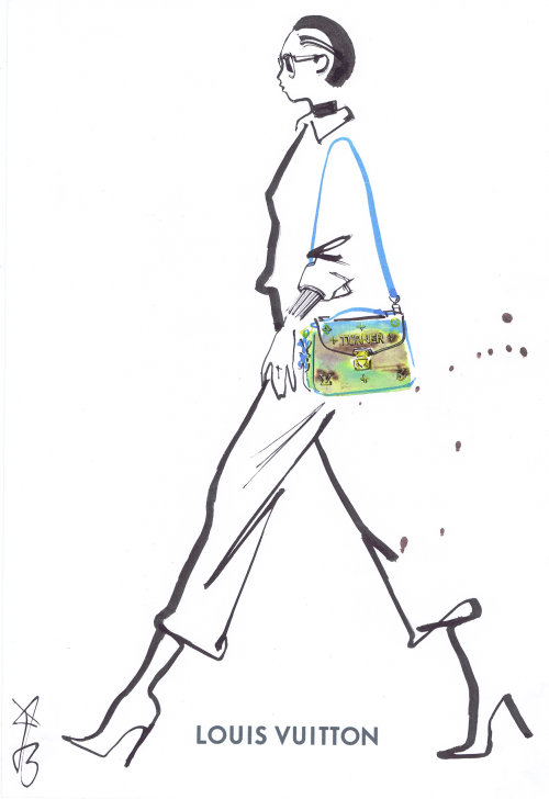 Louis Vuitton Bag drawing