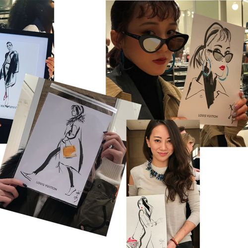 Collage of Live event drawing