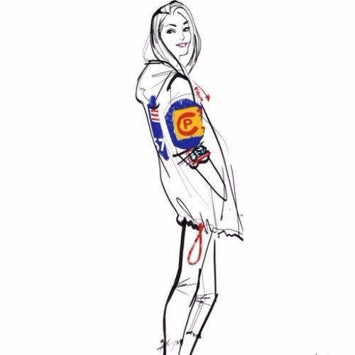 Polo Ralph Lauren fashion drawing