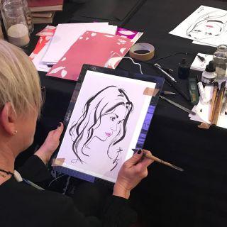 Jacqueline Bissett Live Event Drawing - Live Event Drawing Artist & Fashion Illustrator. UK